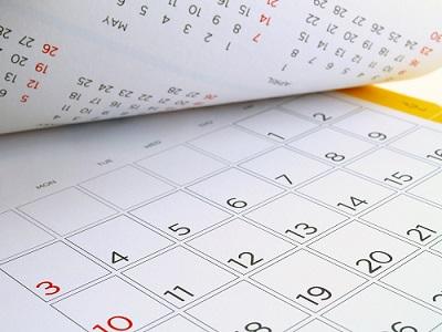 Photo of a calendar